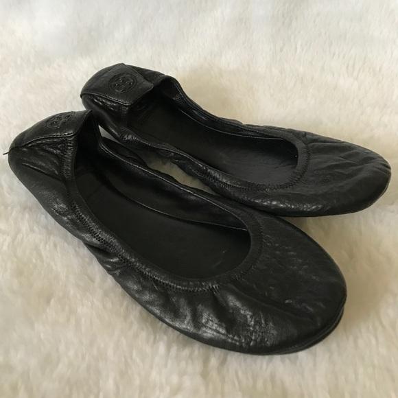 296ed9940 Tory Burch Black Leather Ballet Flats Shoes 11. M 5ab2c8bbd39ca284f65ec193